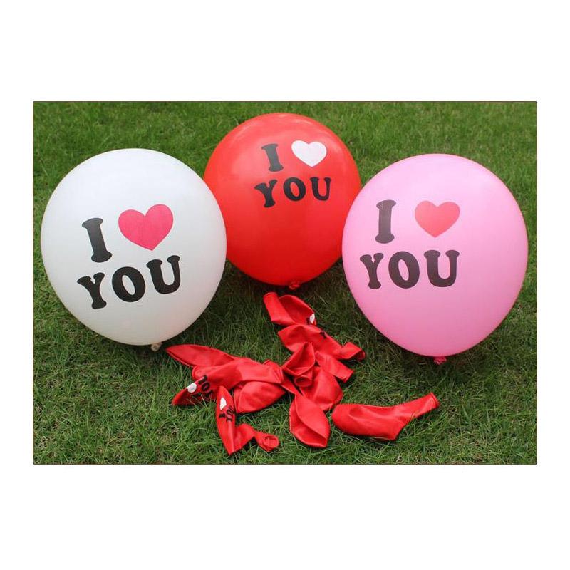 AR705 Воздушные шары красные 'I Love you' 10шт/упак