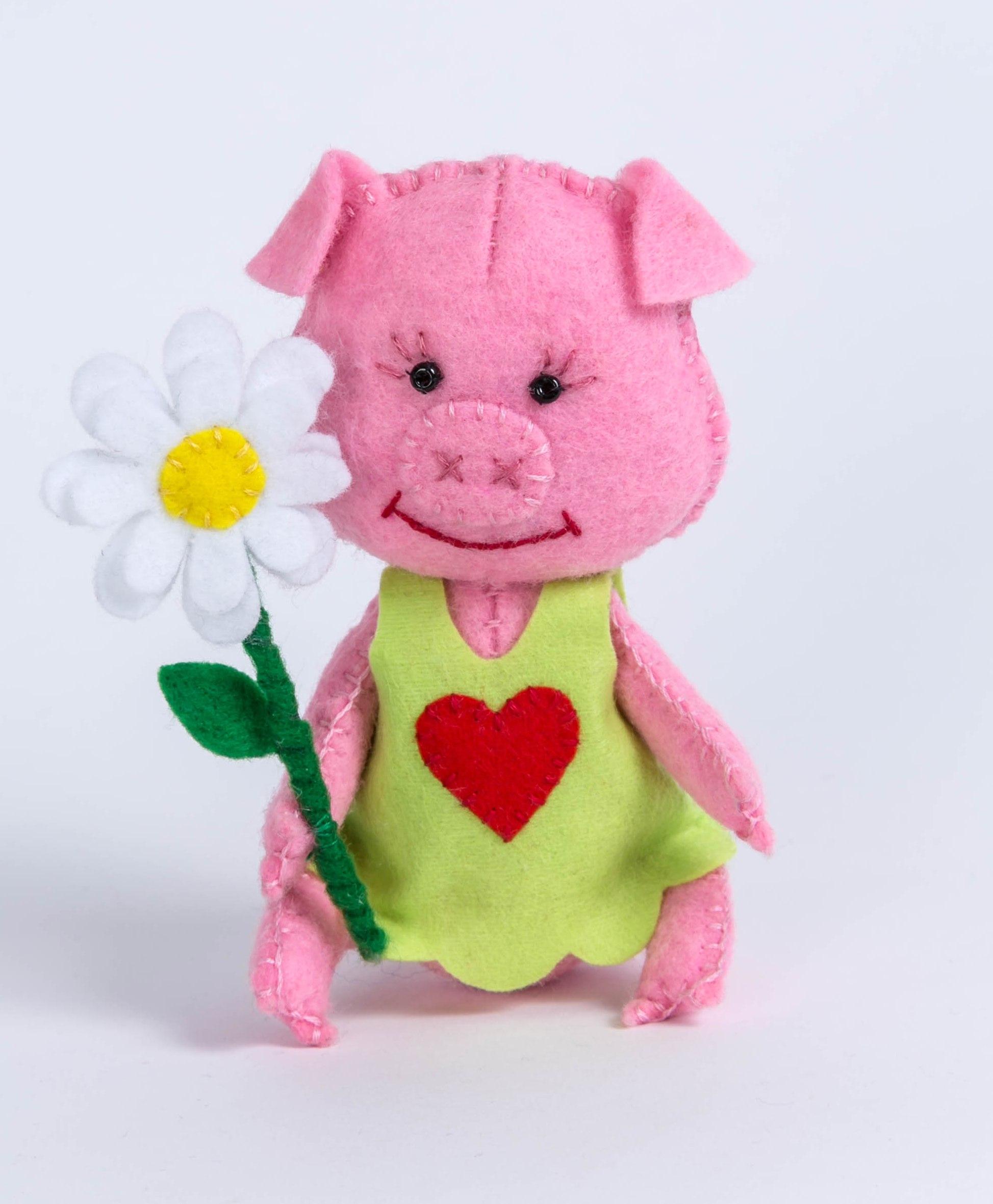 ПФД-1058 Набор для изготовления текстильной игрушки серия Детки 'Хрюша'