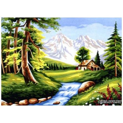 MRC1531-357 Канва с рисунком MARGOT 'Летний пейзаж' 40*50 см