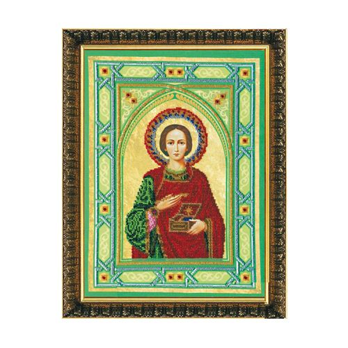 АВ-062 Набор для вышивания бисером 'Абрис Арт' 'Святой Пантелеймон', 28*38 см