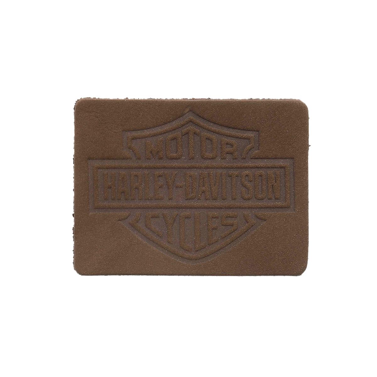 10 Термоаппликация из кожи Харли Дэвидсон 7*5,25см, 100% кожа
