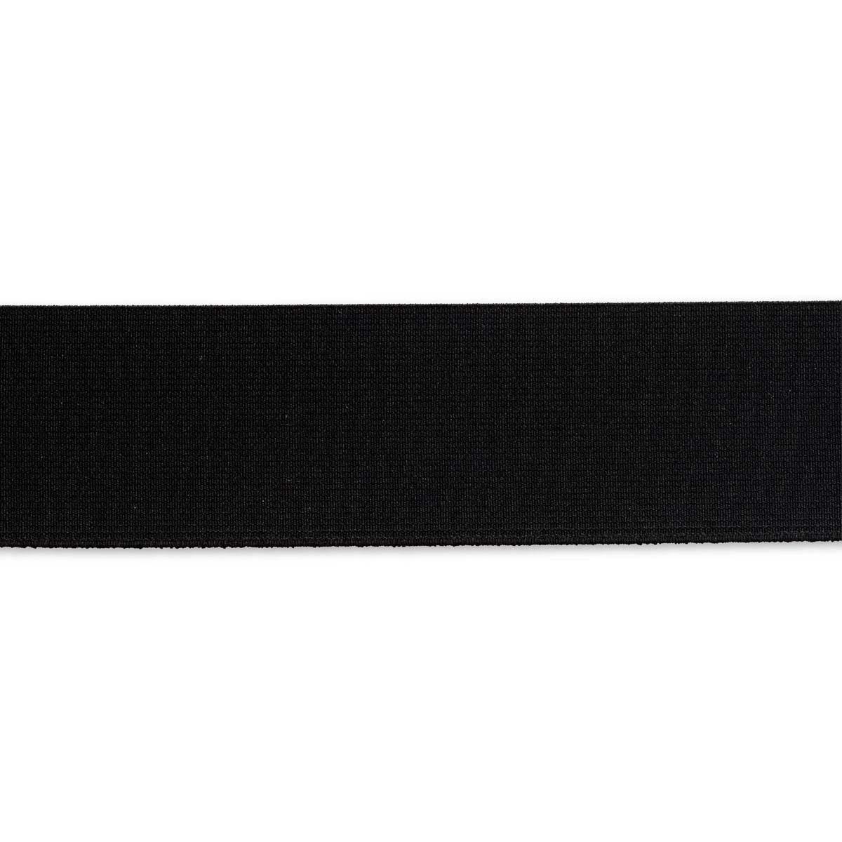 955307 Прочная эластичная лента 50 мм черный цв. Prym
