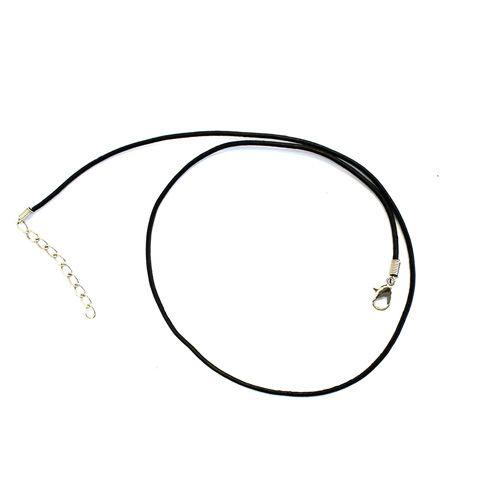 Шнурок для бижутерии кожа d 1,5мм 45см (МС)