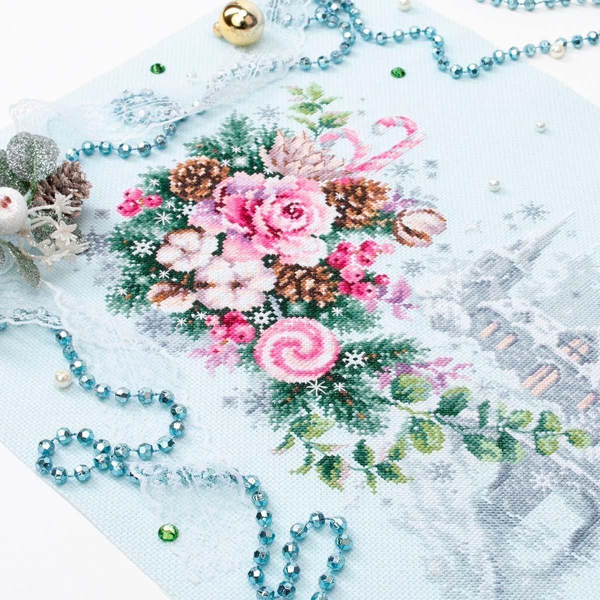 100-244 Набор для вышивания Чудесная игла 'Рождественское настроение'32х22см