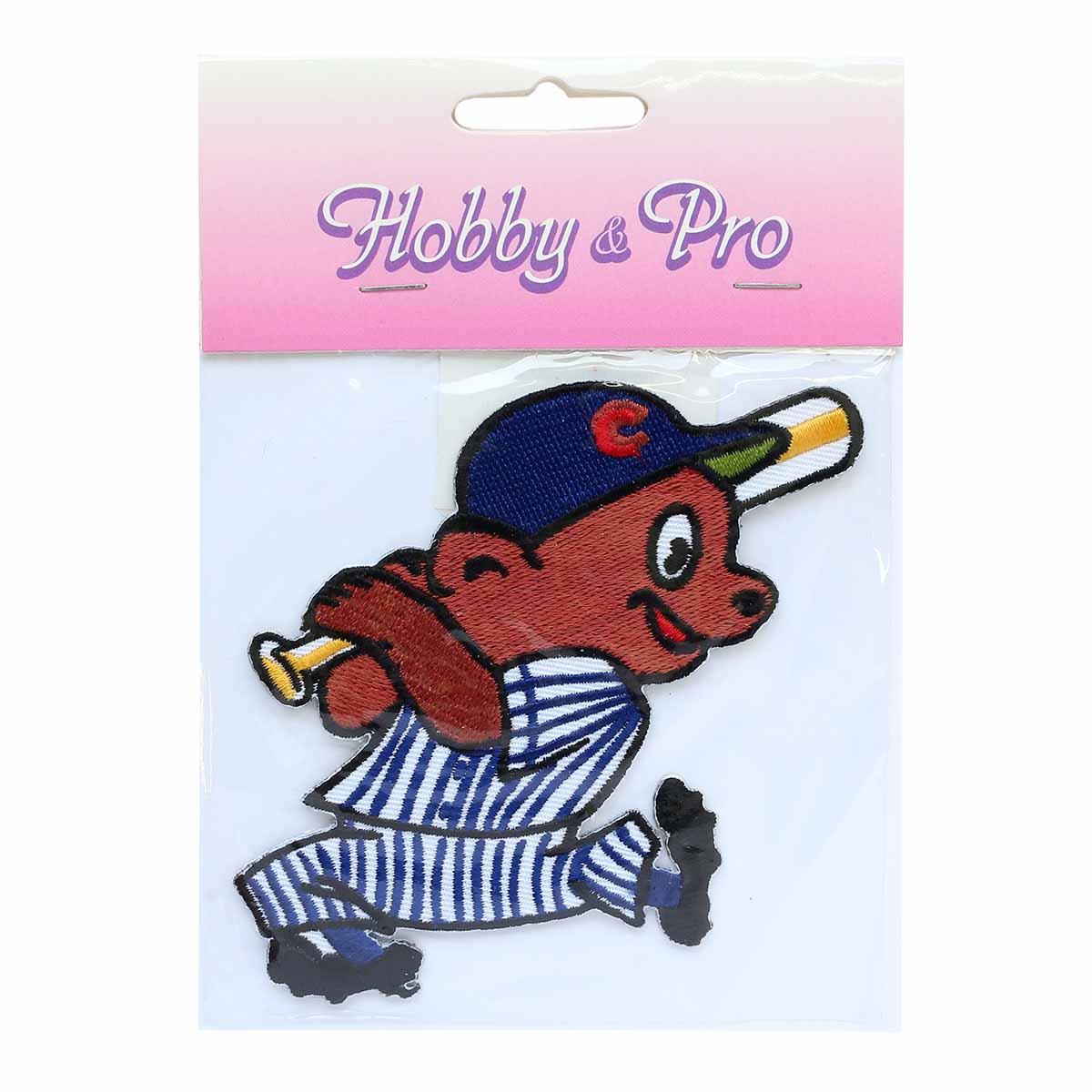 Термоаппликация AD1260 Медведь-бейсболист, Hobby&Pro