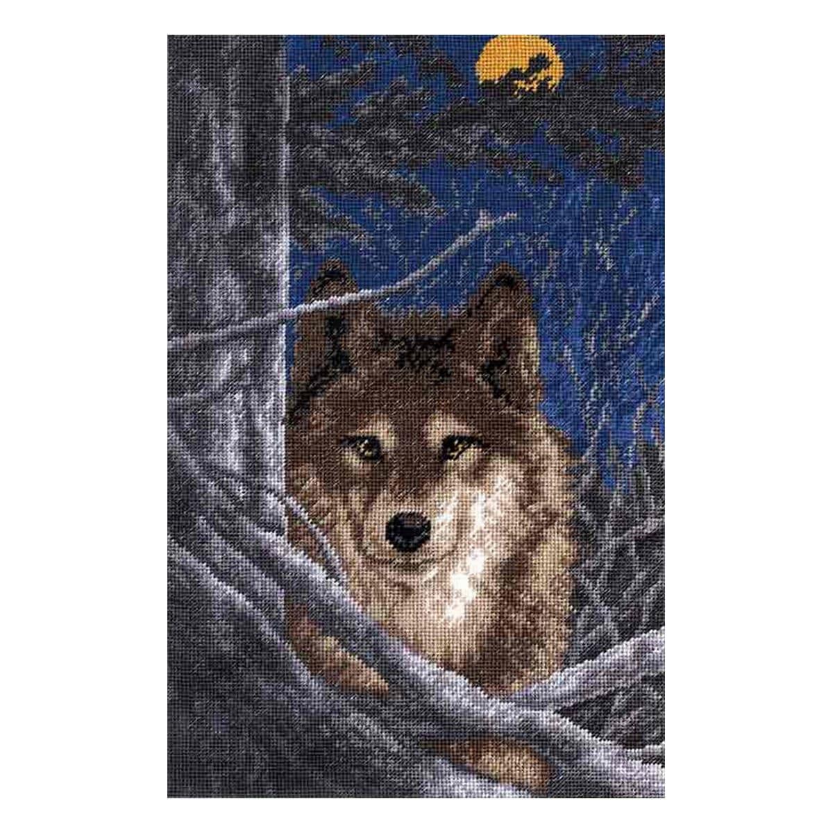 602 Набор для вышивания Hobby&Pro 'Волк',18*28 см