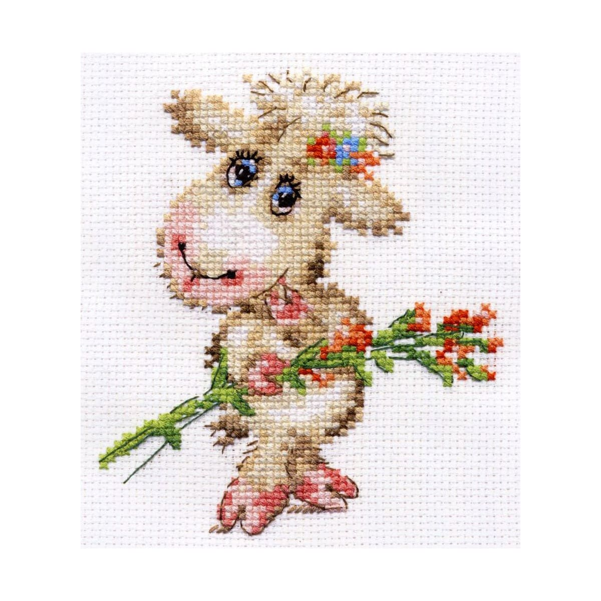 0-105 Набор для вышивания АЛИСА 'Милая овечка' 10*12см