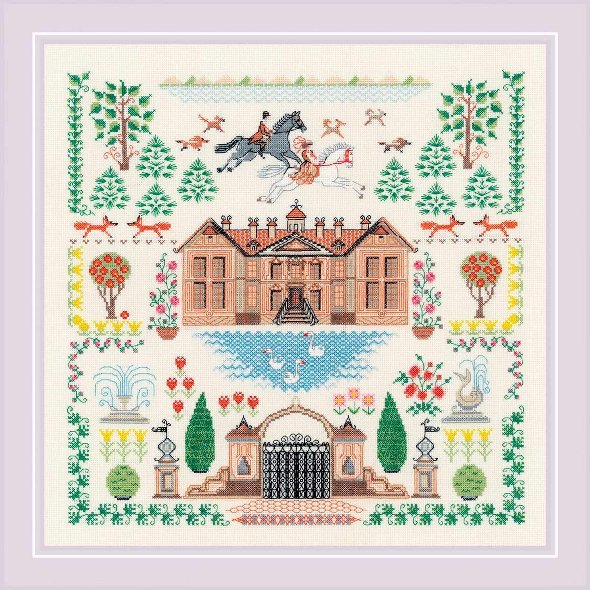 1917 Набор для вышивания Риолис 'Мой дом' 35*35 см