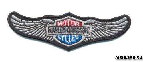 AD1291 Термоаппликация Harley Davidson, 3*10 см, Hobby&Pro