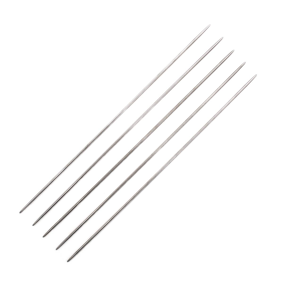 Спицы носочные металл 941520, 20 см, 2,0 мм, Hobby&Pro