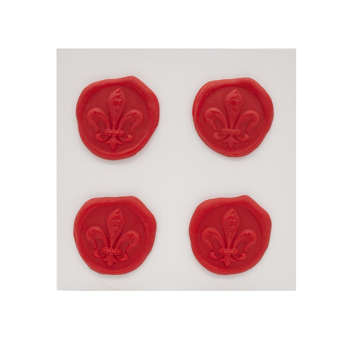 Оттиски печатей из полимерной глины 'Лилия' 30*35мм, 4шт/упак Астра