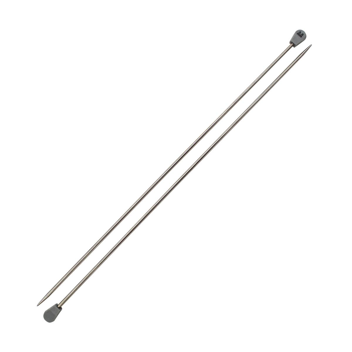 Спицы прямые металл 941235, 35 см, 3,5 мм, Hobby&Pro