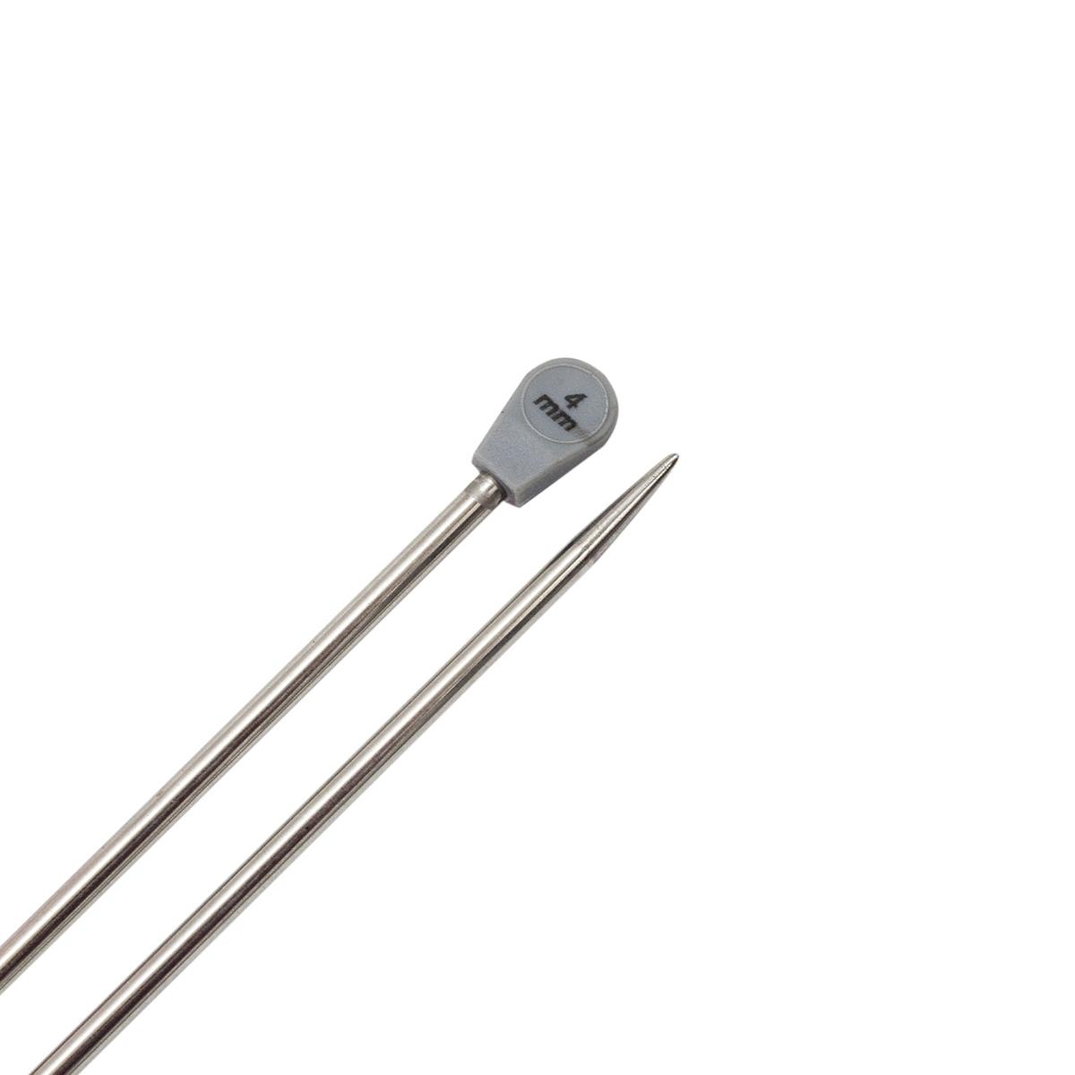 Спицы прямые металл 941240, 35 см, 4,0 мм, Hobby&Pro