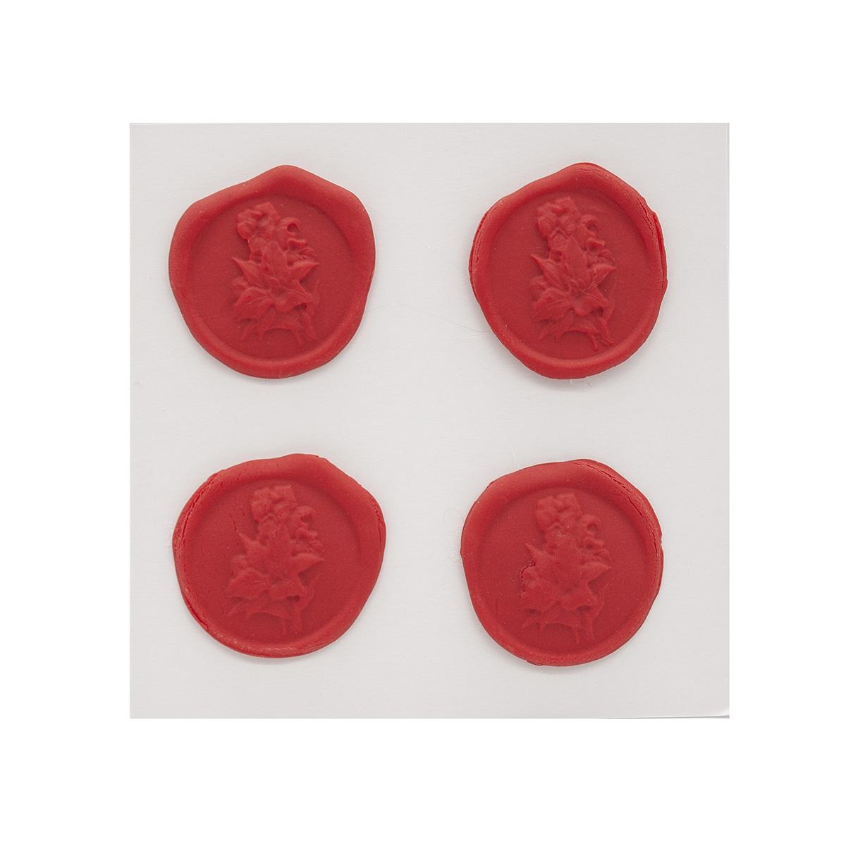 Оттиски печатей из полимерной глины 'Букет' 30*35мм, 4шт/упак Астра