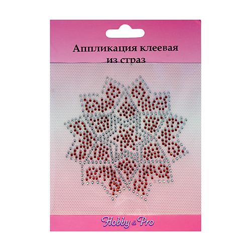 ADS009 Аппликация клеевая из страз 'Восточный цветок', 9,8х9,8 см, Hobby&Pro