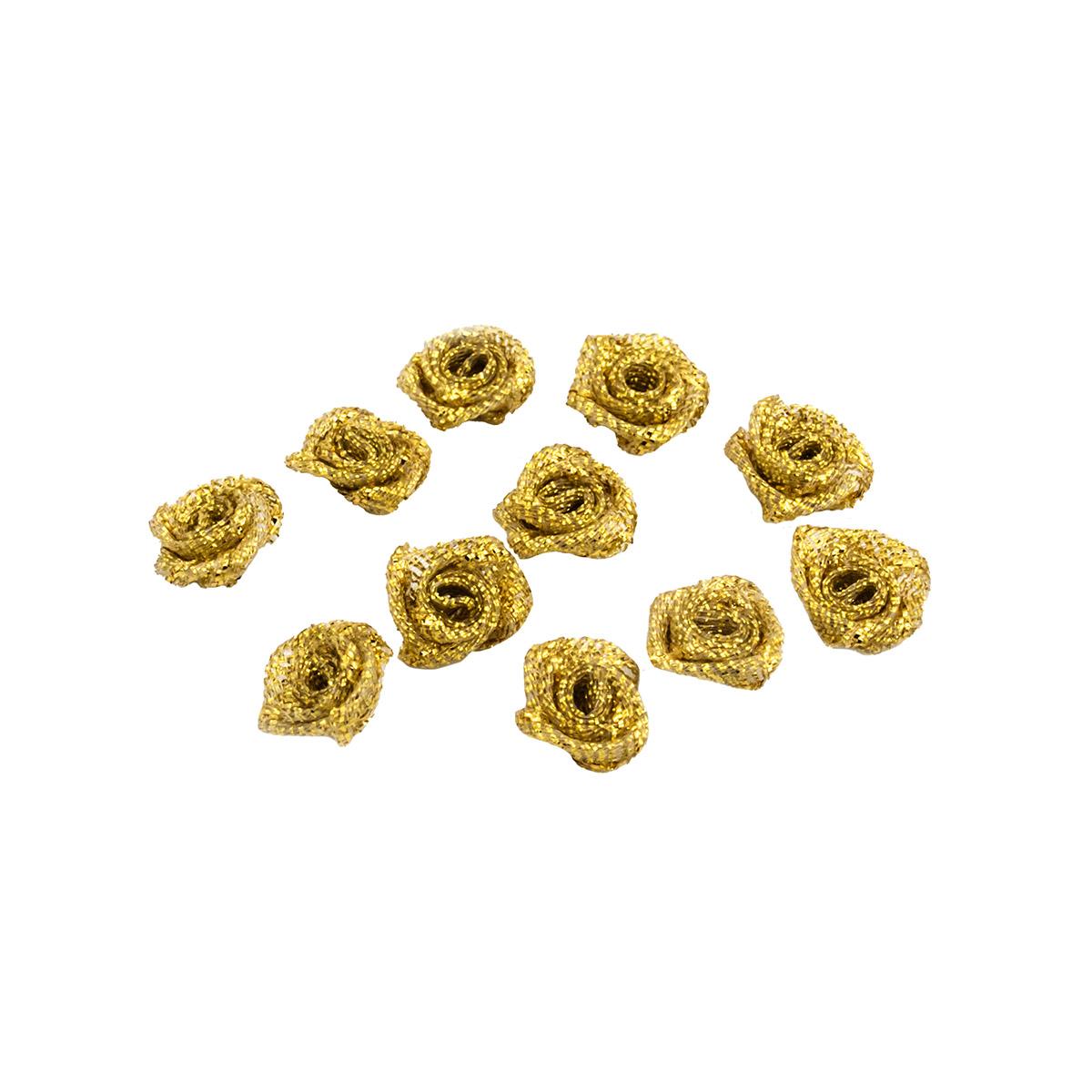 Цветы пришивные люрекс 1,1см
