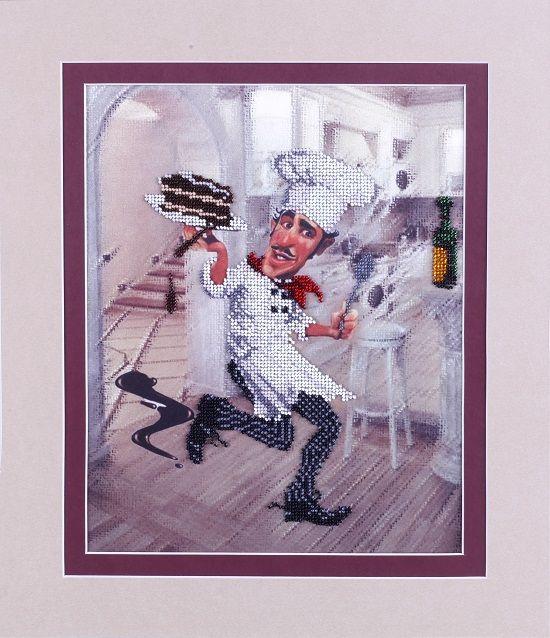 ВН1078 Набор для вышивания Alisena 'Повар с тортом' 25*31см