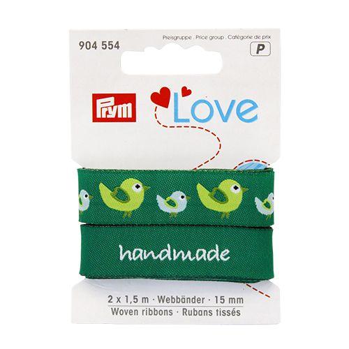 904554 Prym Love Ленты тканые Птица 15мм*1,5м 2шт Prym