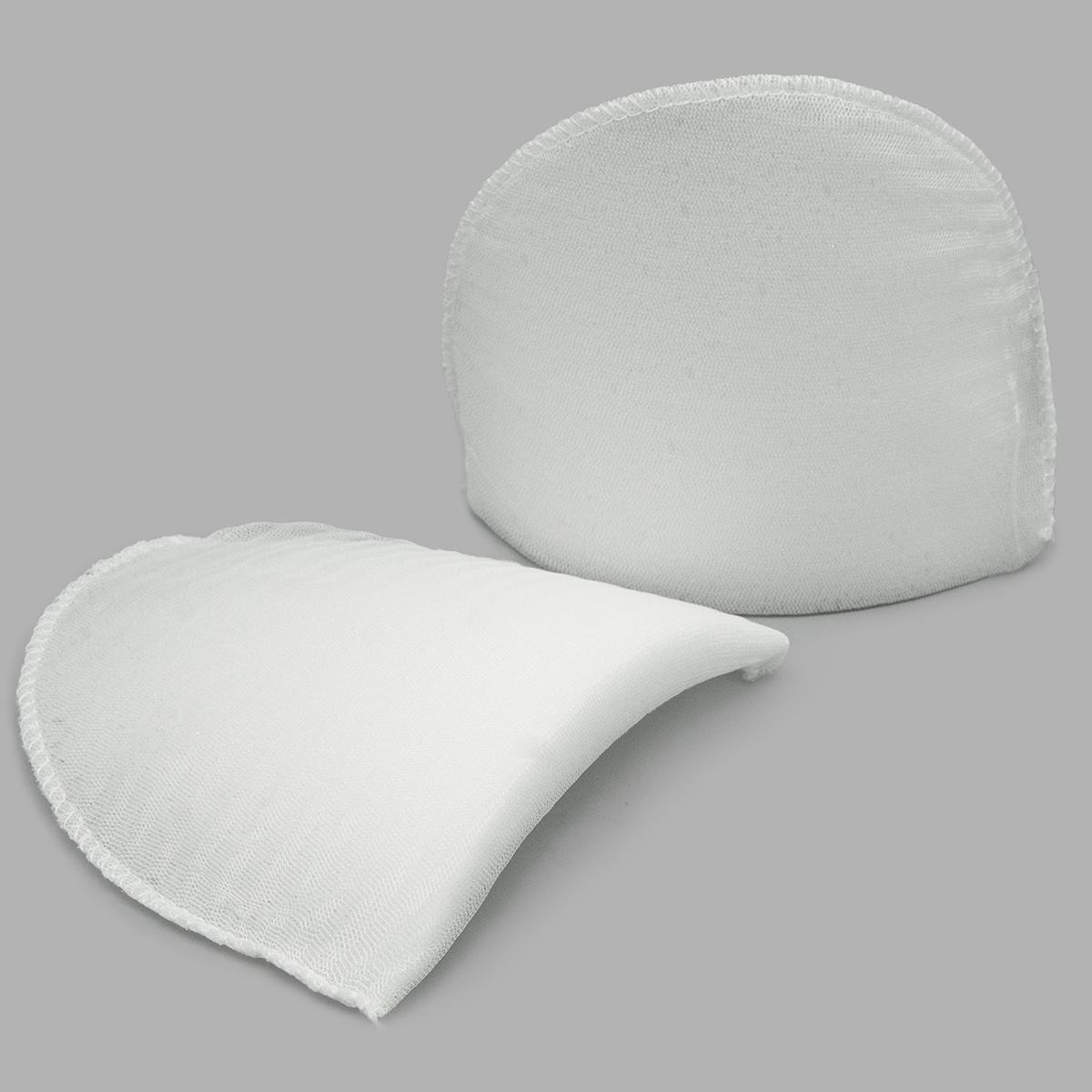 Плечевые накладки В-16/А втачные обшитые цвет белый, 16х120х165 мм, Hobby&Pro