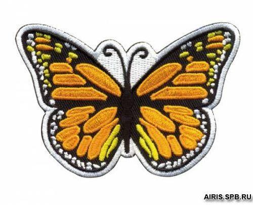 AD1345 Термоаппликация 'Бабочка желтая', 6,4*8,3 см, Hobby&Pro