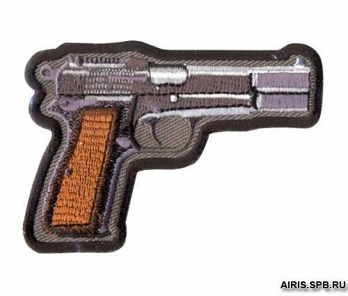 AD1359 Термоаппликация 'Пистолет', 5,1*7,6 см, Hobby&Pro