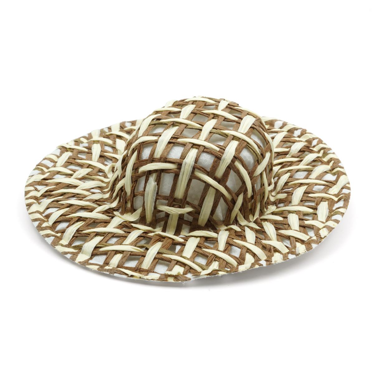 Шляпа коричневая 8,5 см, 2 шт/упак