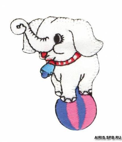 AD1364 Термоаппликация 'Слоненок на шаре', 6*4 см, Hobby&Pro