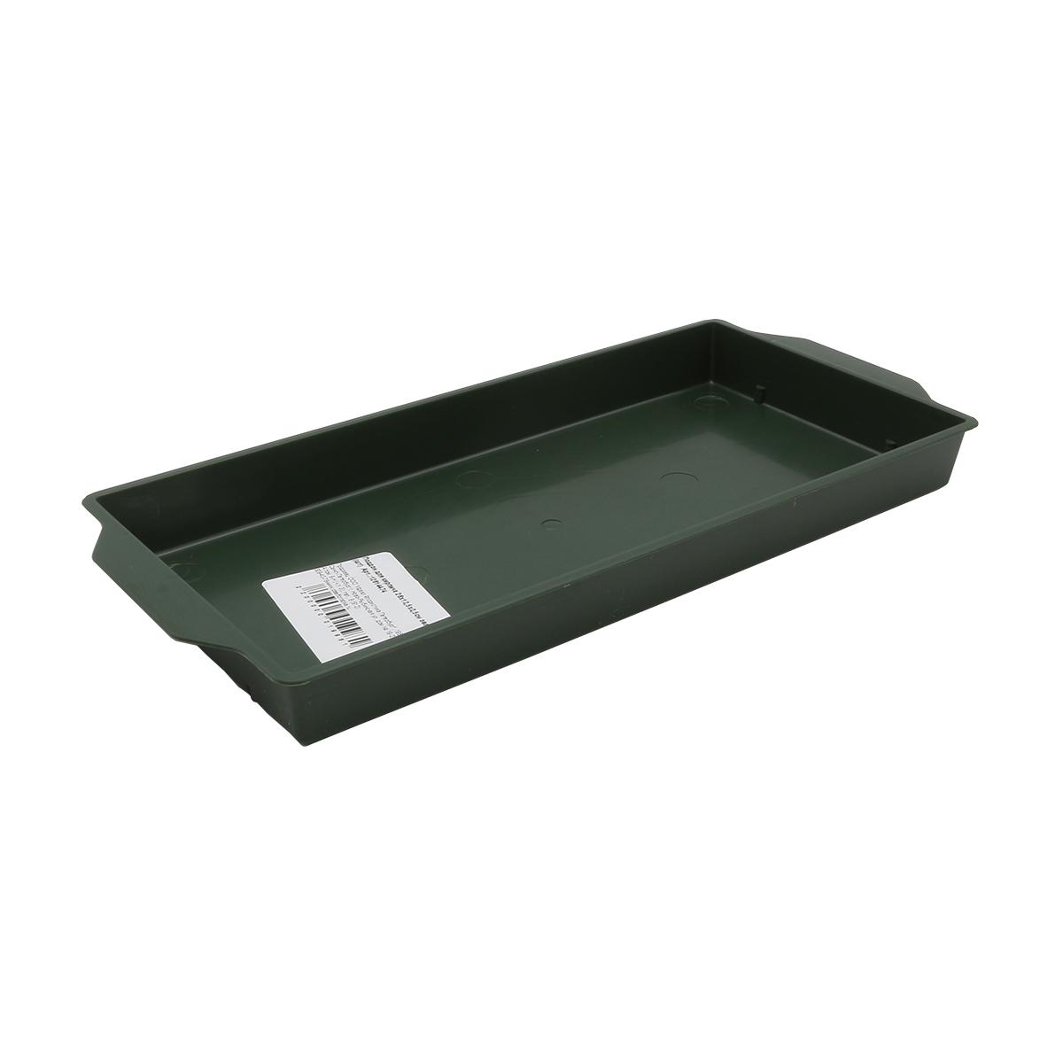 12614474 Поддон для кирпича 26х12,5х2,5см зелёный