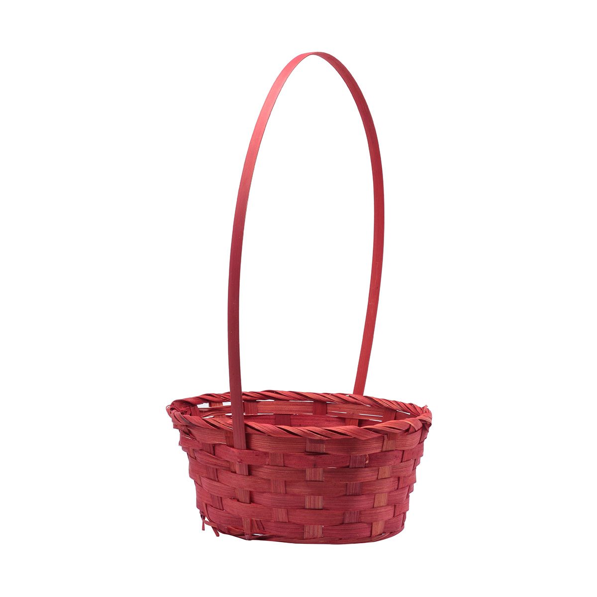 71221 Корзина плетеная бамбук 20*16*9см красный