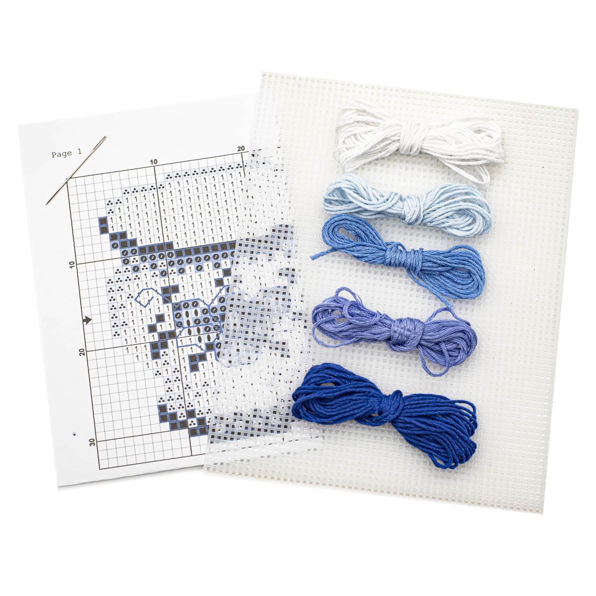 Набор для вышивания на пластиковой канве 'Гжель', 9,5*8 см, П-0018, Hobby&Pro