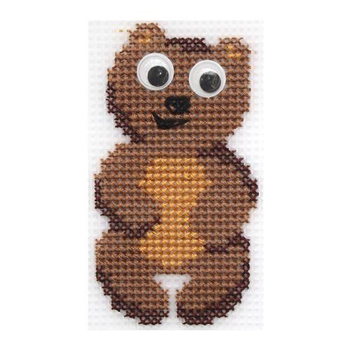 """Набор для вышивания на пластиковой канве """"Мишутка"""" П-0027, 9,5х5,5 см, Hobby&Pro"""