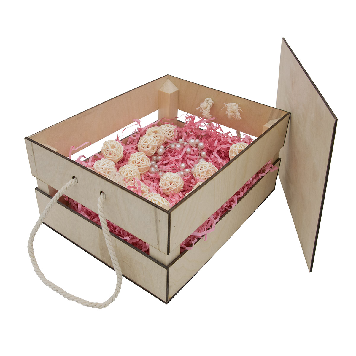 НА-020 Набор для оформления подарка 'Маффины', ящик 25*20 см, белый