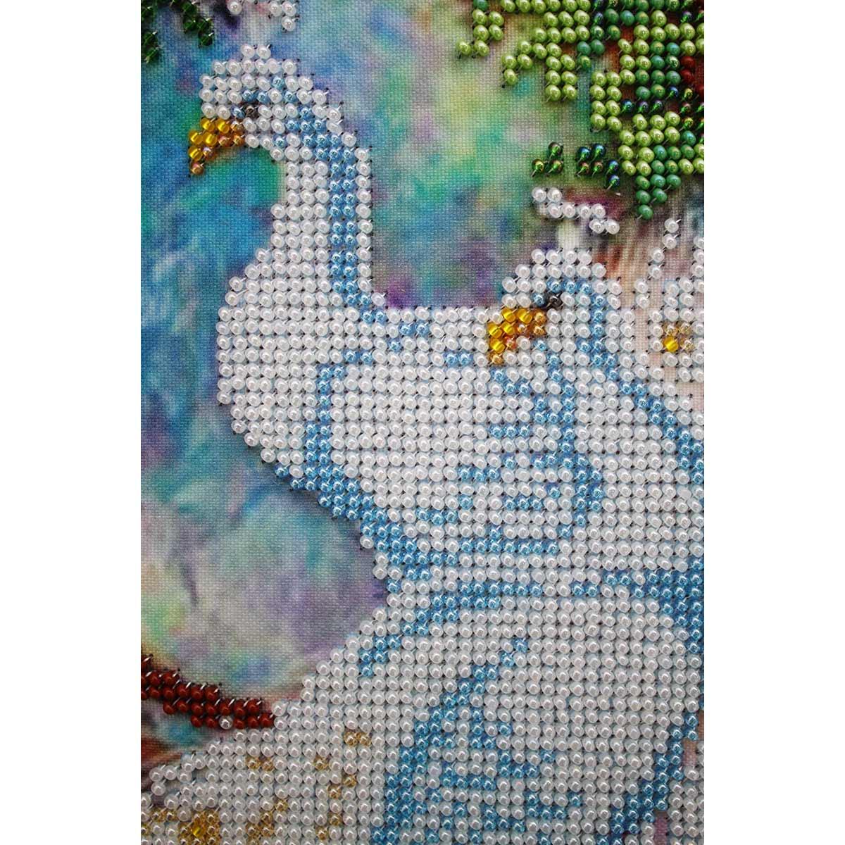 """Набор для вышивания бисером БН-3135 """"Павлины"""", 30х37 см, Hobby&Pro"""
