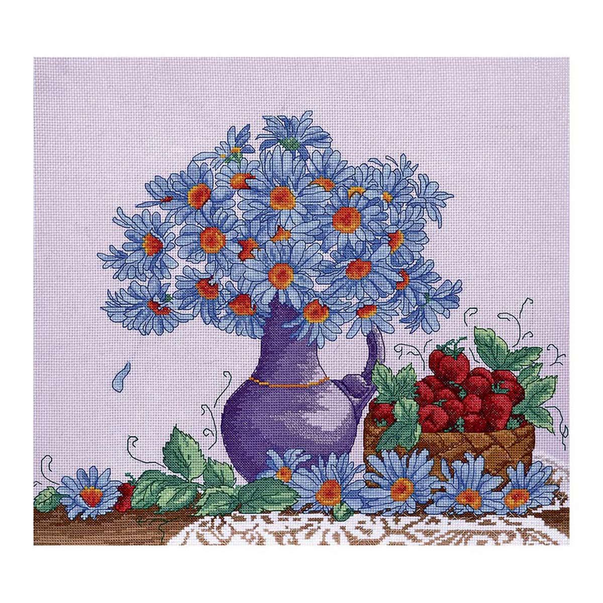 Набор для вышивания'Садовые ромашки' 38*31см, 968, Hobby&Pro