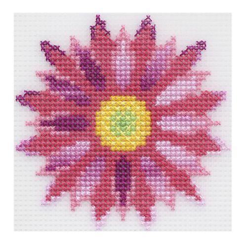 """Набор для вышивания на пластиковой канве П-0040 """"Хризантема"""", 10х10 см, Hobby&Pro"""