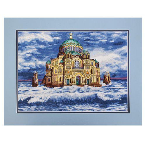 """Набор для вышивания 789 """"Морской Никольский собор (Кронштадт)"""", 35х26 см, Hobby&Pro"""