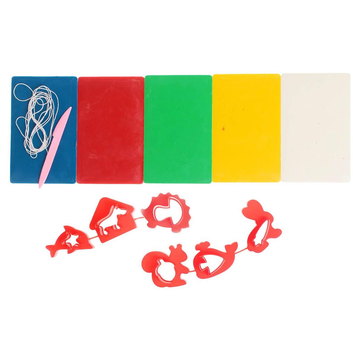 21С 1391-08 Набор для лепки свечей с формочками 'Лепим свечи'