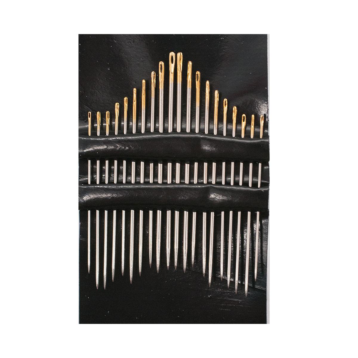 01362 Иглы швейные, с золотым ушком №3-9 (20 шт) PONY