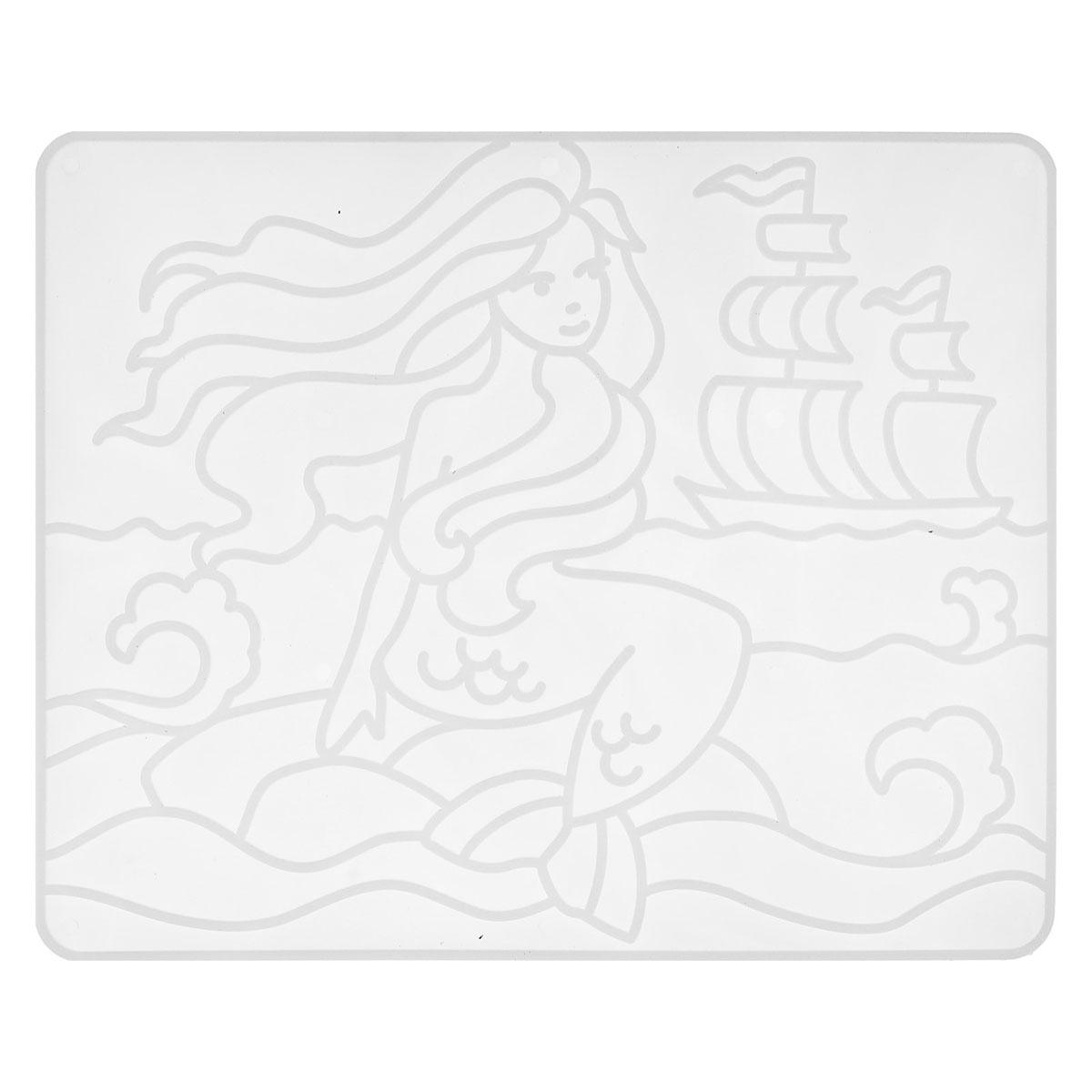28С 1676-08 Набор красок по стеклу со светящейся картиной 'Русалка'