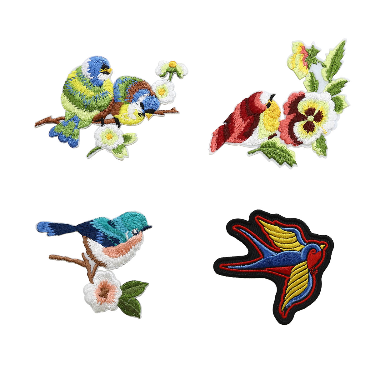 Набор термоаппликаций Птички,упак(4шт), Hobby&Pro