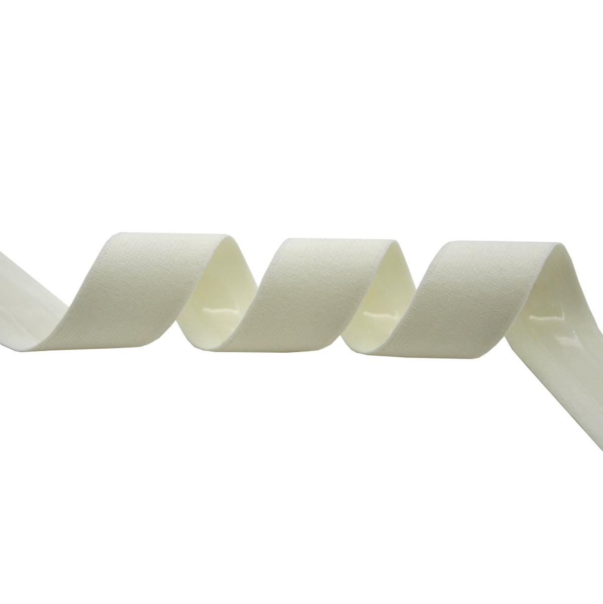ST/12 эластичная бретелечная лента с силиконом 20мм*25м, молочный