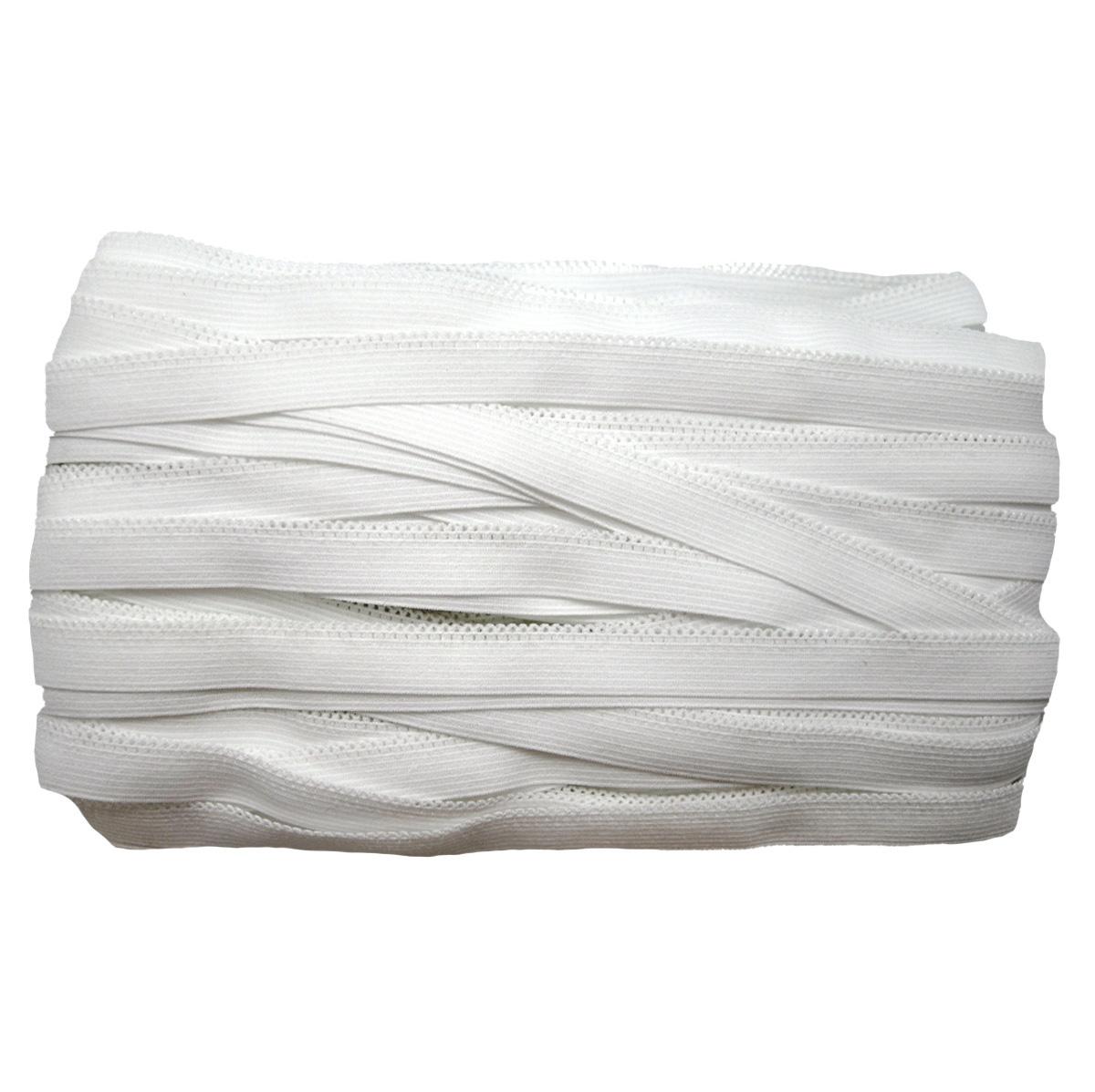 ST/14 эластичная ажурная лента 12мм*50м, белый