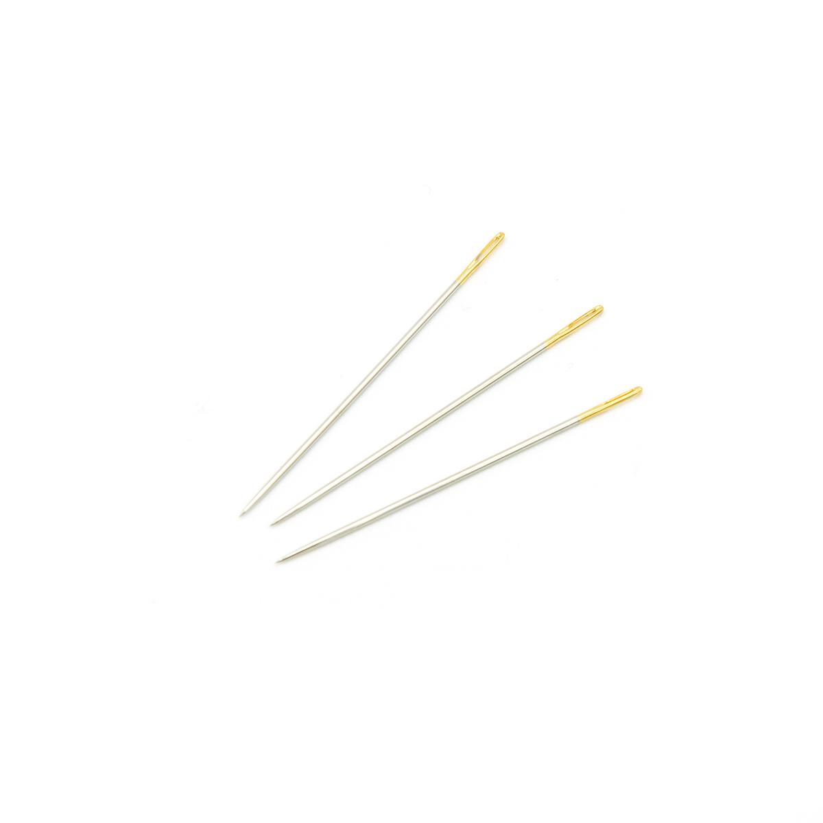110108/g Иглы вышивальные с золотым ушком для тонкой шерсти №3-9, упак./16 шт., Hobby&Pro