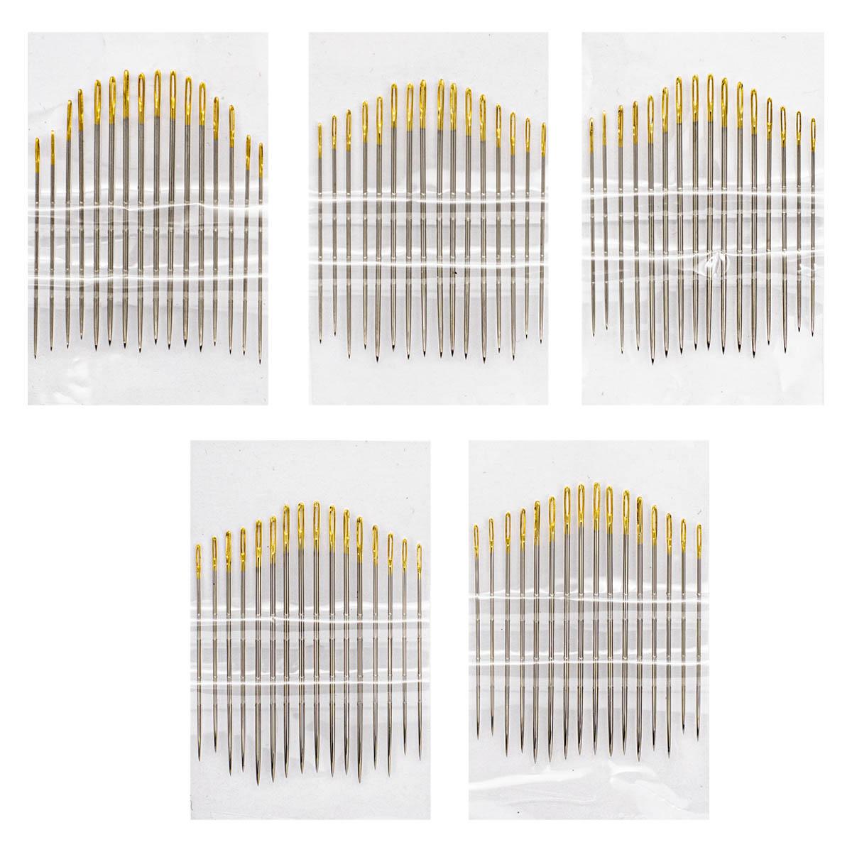 Иглы ручные с золотым ушком для тонкой шерсти №3-9, 16шт. 110108/g, Hobby&Pro