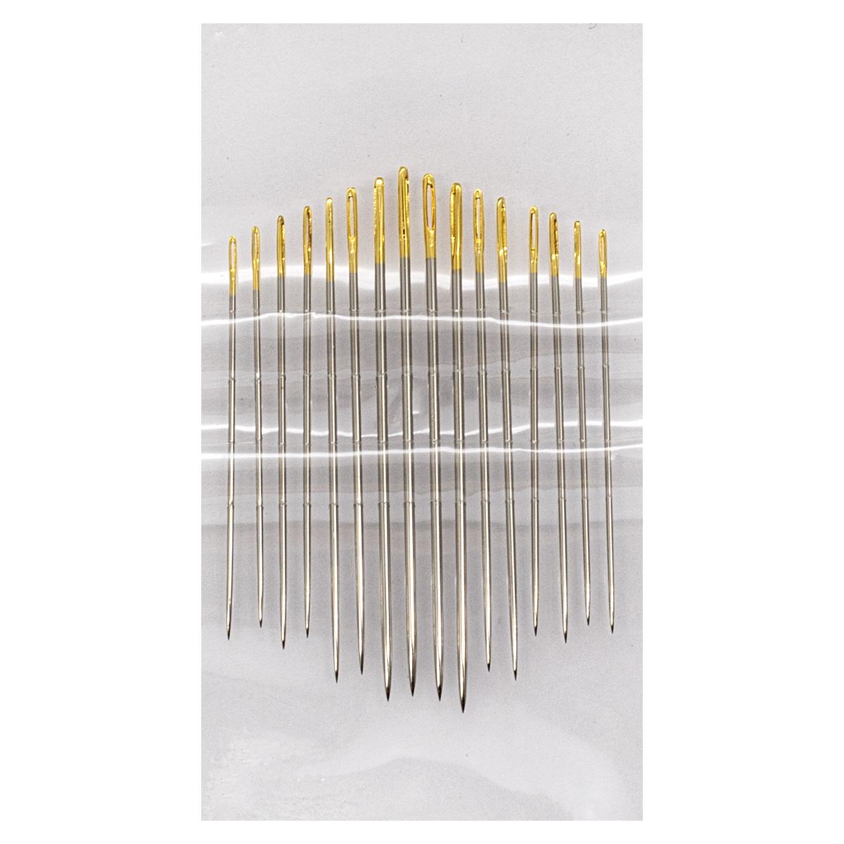 Иглы ручные с золотым ушком для тонкой шерсти №5-10, 16шт. 110109/g, Hobby&Pro