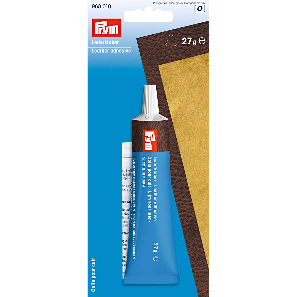 968010 Клей для кожи 27г Prym