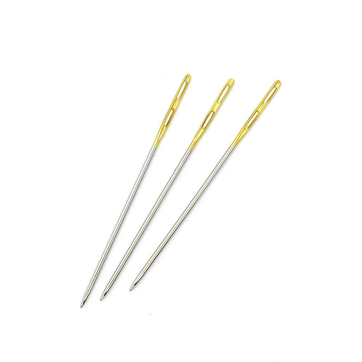 Иглы ручные с золотым двойным ушком №3, 4шт. 110301/g, Hobby&Pro