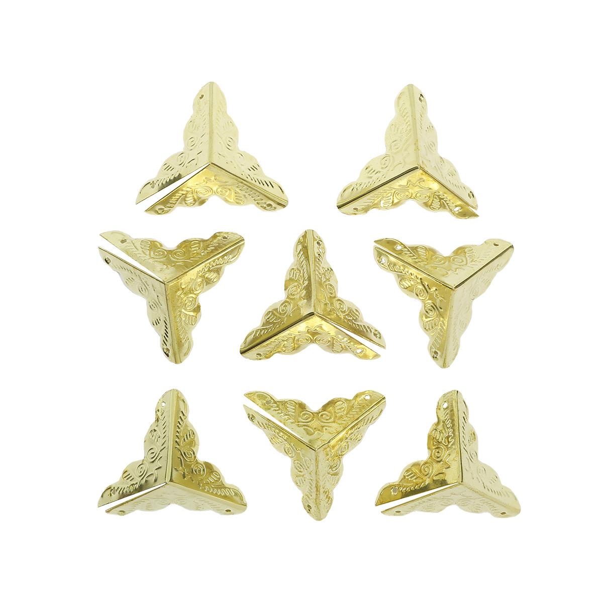 Уголок декоративный для шкатулок 25*25мм, 8шт золото