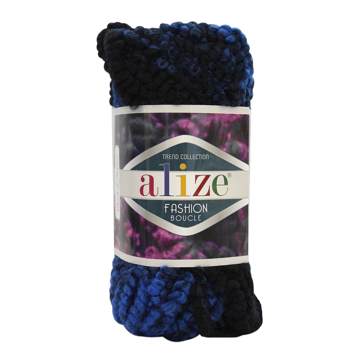"""Пряжа  ALIZE """"Fashion boucle"""" 35м./100г. многоцветный акрил 70%; шерсть 25%; полиамид 5%"""