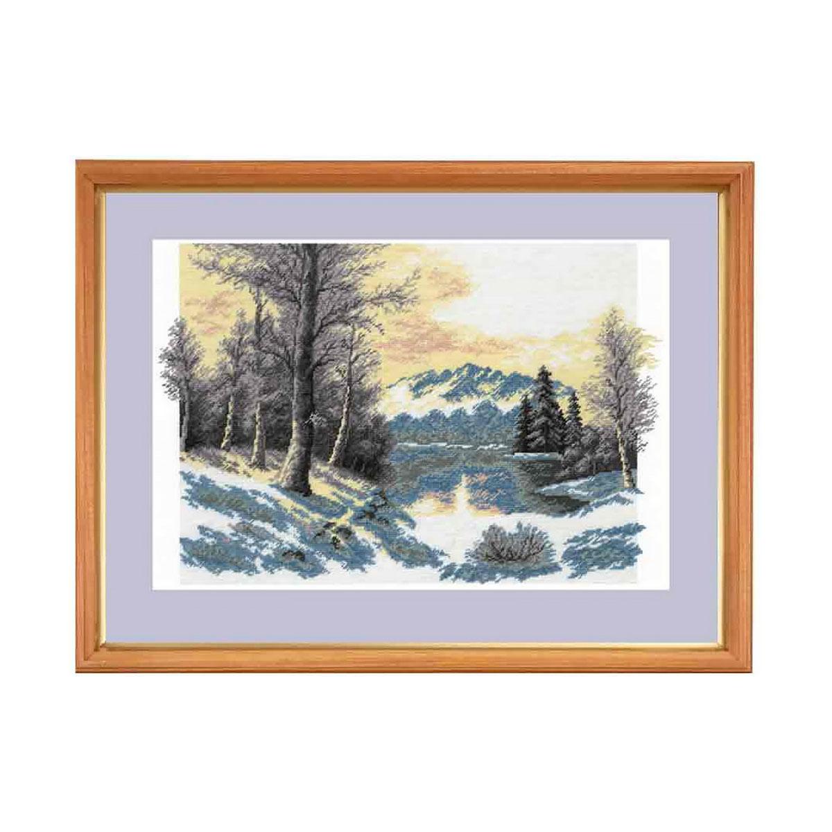 644 Набор для вышивания Hobby&Pro 'Зимний пейзаж', 27*39 см